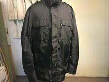 LN MONCLER BLACK HOODED WINDBREAKER BOMBER JACKET 6  XXL
