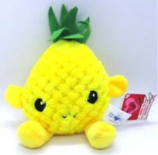 Hugfun Plush PINEAPPLE Stuffed Toy Fruit Yellow with Green Top with Tags