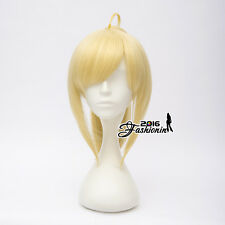 Fate/stay night Saber Yellow Blonde Hair Anime Halloween Cosplay Ponytail Wig