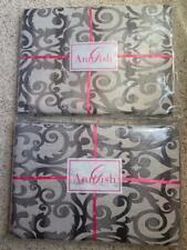 $2662 Nwt Ann Gish Flourish 100% Linen Natural Queen Duvet Cover + Throw Blanket