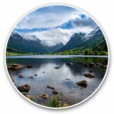 2 x Vinyl Stickers 25cm - Beautiful Norway Lake Cool Gift #8914