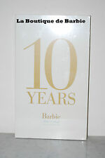 10 YEARS: BARBIE® FASHION MODEL COLLECTION BOOK, V9531, NEW, 2010