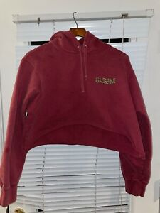 Supreme New York Portrait Hoodie, Red Check Measurements Authentic Chopped