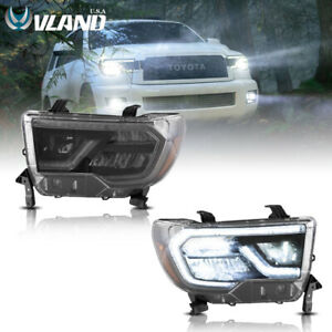 VLAND LED Headlights Fits For Toyota Tundra 07-13 Sequoia 08-21 Sequential