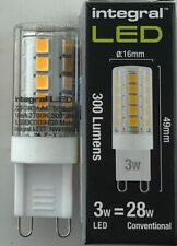 LED G9  DIMMABLE 3W = 30W 2700K WARM WHITE INTEGRAL 320 LUMES