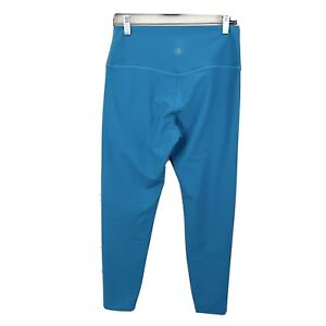 Sage Collective High Waisted Leggings Solid Teal Blue Stretch Activewear NEW L