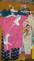LOT 4 Sets 3T Girls. Paw patrol / Unicorns 8pcs Pajamas PJ Set