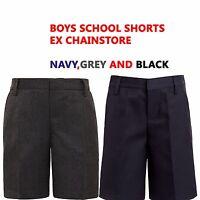 BOYS SCHOOL SHORTS EX CHAINSTORE 2-14 YEARS