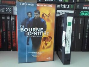VHS DIE BOURNE IDENTITÄT (2002) ACTION THRILLER *UNCUT* MATT DAMON