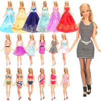 Barwa Fashion New Barbie random 10 fashion clothes + 3 large skirts + 3 swimsu