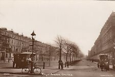 London Real Photo Postcard. Royal Avenue. Chelsea. Carriage. Fine! Sidders. 1910