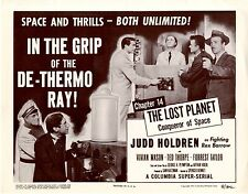 Lost Planet Chapter 14  4 Lobby Card Set 1953 NM In the Grip of the De-Thermo Ra