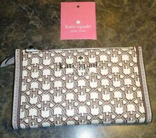 NWT Kate Spade Link Small Slim Bifold Wallet WLRU6294 White Multi (194)