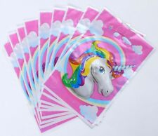 UNICORN LOLLY LOOT BAGS 10 PACK FAVOUR BIRTHDAY PARTY DECORATIONS SUPPLIES