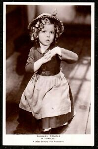 1930 SHIRLEY TEMPLE IN FILM DIMPLES REAL PHOTO POSTCARD CHILD MOVIE CINEMA STAR