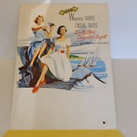 Vintage Hood Shoes Counter Top Store Display Cardboard 1940s Advertising Sign #1