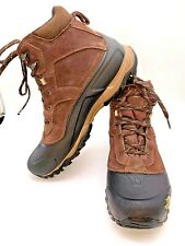 The North Face Heat Seeker Brown Insulated Waterproof Winter Boots Men's Size 12