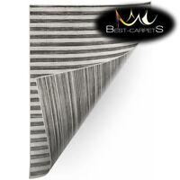 SISAL RUG 'DOUBLE' PRACTICAL double-sided grey black Carpet FlatWeave Easy Clean