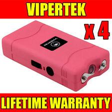 (4) VIPERTEK PINK VTS-880 Mini Stun Gun Self Defense Wholesale Lot
