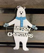 Décorations de sapin de Noël guirlandes blancs