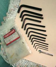 Vintage Sears Craftsman 9 46679 Metric 11 Piece HEX KEY LONG ARM WRENCH SET +