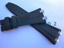 AUDEMARS PIGUET ROYAL OAK OFFSHORE 28mm RUBBER STRAP Band With S/S PLOTS LINKS!!