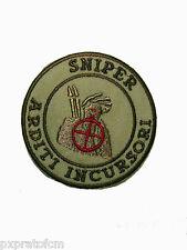 Patch Sniper Arditi Incursori Marina Militare fondo sabbia