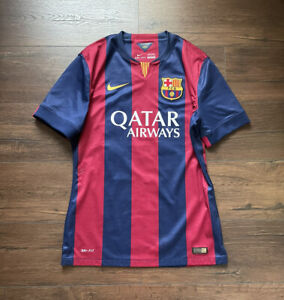 Authentic Player Issue Nike Messi Barcelona Treble Jersey Shirt L Large