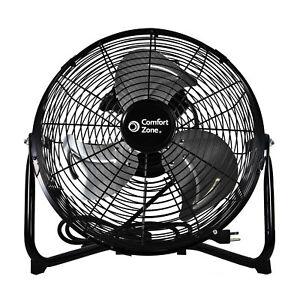 "Comfort Zone CZHV12B 12"" 3-Speed High-Velocity Fan"