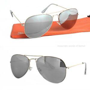 Rennec Piloten Sonnenbrille Gold Silber 70er Retro Spiegelbrille Edelstahl Etui