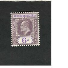 Nothern Nigeria SCOTT  #24 POSTAGE AND REVENUE 6d MH stamp