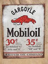 Mobil Gargoyle Tin Metal Sign Decor Gas Oil Car Automobile New Car