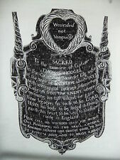Brass rubbing WEDMORE SOMERSET, CAPTAIN THOMAS HODGES c1630 slain Antwerp . 72/1