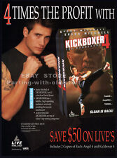 KICKBOXER 4: The Aggressor__Original 1994 Trade AD movie promo__SASHA MITCHELL