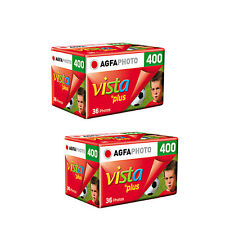 2 Rolls Agfa Vista 400 Plus ISO400 35mm 135-36EXP Color Negative Film Fresh 2019
