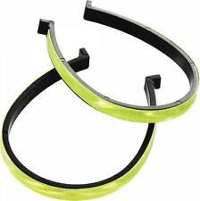 WOWOW REFLECTIVE HI-VIZ CYCLING TROUSER CLIPS COMMUTE VISIBLE SAFETY 2 PAIRS