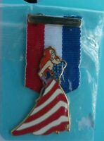 Disney Patriotic JESSICA Rabbit MEDAL Ribbon American FLAG Pin LE 250 HTF DLR