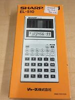Sharp Calculator EL-510 Solar Cell Scientific Rare Model BRAND NEW IN BOX