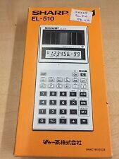 Sharp Calculator EL-510 Solar Cell Scientific Rare Model BRAND NEW IN BOX