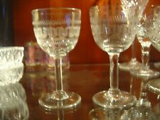 Two Vintage Stemmed Sherry Glasses Greek Key Design Lovely Ring