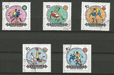 COUPE DU MONDE DE FOOTBALL MONGOLIE  5 timbres oblitérés /T243