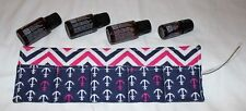 Essential Oil Holder Case Roll-up NEW Blue Pink White Chevron Anchors
