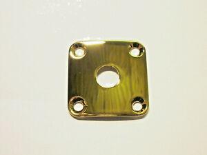 göldo 4-Loch Buchsenblech Jack-Plate, gebogen gold