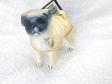 Pug Shar Pei Dog Figural Blown Glass Christmas Tree Ornament Robert Stanley New