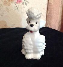 Adorable Porcelain Vtg. Goebel West Germany White Standard Poodle Dog Figurine