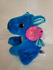 "Sparkle Tales Rocket Blue Dragon 7"" Stuff Plush Animal Aurora"
