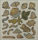 17th Century Needlework Slips Stumpwork Insects English Circa 1670