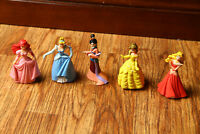 Disney Princess Figure Lot Cake Toppers Cinderella, Mulan, Belle, Aurora, Ariel