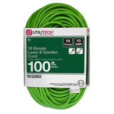 Utilitech 100-ft 10-Amp 125-V 16-Gauge Lime Green Outdoor Garden Extension Cord