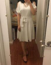 Reiss Hermoine Cut Away Shoulder Dress White Size 2 New